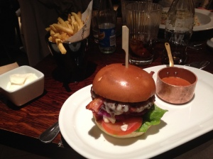 Malmaison burger and fries