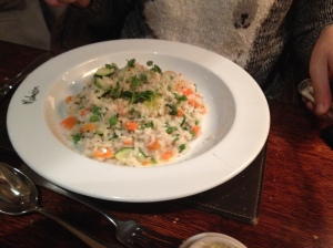 Malmaison Sunday brunch risotto