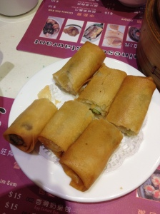 Spring rolls at One Dim Sum, Hong Kong