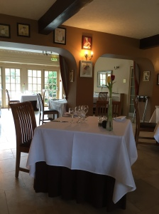 The courtyard restaurant at Ox Pasture Hall, Scarborough