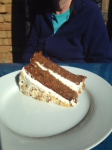 Blue Cafe in Leatherhead carrot cake