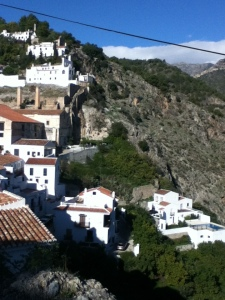 The nearby hilltop village of Frigiliana