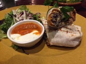Burrito at Las Iguanas