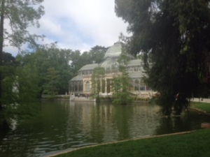 The lovely nearby Retiro Gardens