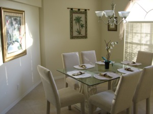 Dining area - not that it's ever cold enough to eat indoors!