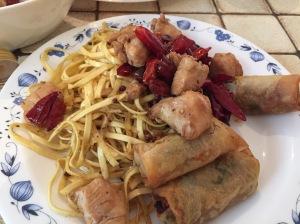 sichaun chicken with chillies