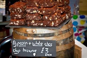 Popcorn and white choc brownies IMG_7829
