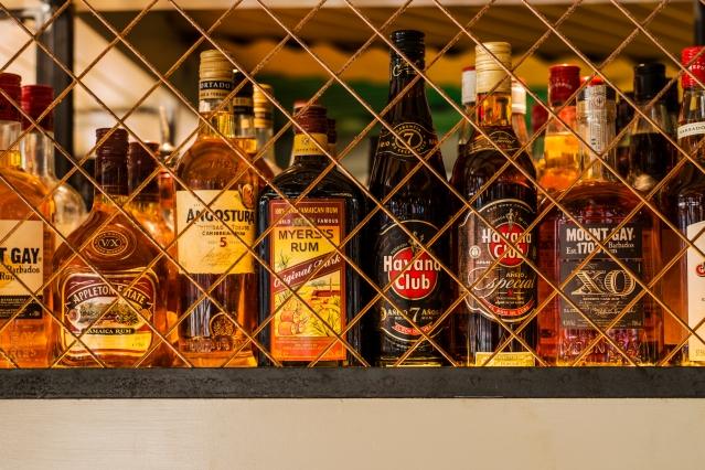 Turtle Bay rum bottles cage.jpg